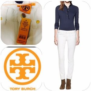 Tory Burch Super Skinny White Jeans Size 25